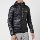 Emporio Armani EA7 Men's Down Hooded Jacket - Black/Gold