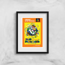 Nintendo Super Mario World Retro Cover Art Print