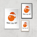 Merry Fish-Mas Art Print