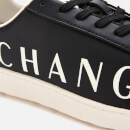 Armani Exchange Men's Leather Low Top Trainers - Black/Ivory