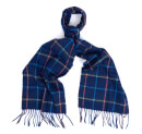 Barbour Men's Tattersall Lambswool Scarf - Navy/Blue
