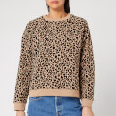 Whistles Women's Flocked Leopard Sweater - Camel