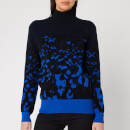 Ted Baker Women's Nulina Leopard Jacquard Roll Neck Jumper - Navy