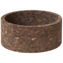 Broste Copenhagen Anon Cork Deco Bowl - Dark Natural