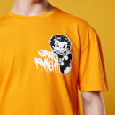 Batman Grafitti Print Oversized T-Shirt - Orange