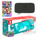 Nintendo Switch Lite (Turquoise) Mario Kart 8 Deluxe Pack