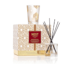 NEST Fragrances Festive Petite Birchwood Pine Candle and Diffuser Set