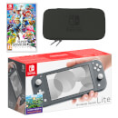 Nintendo Switch Lite (Grey) Super Smash Bros. Ultimate Pack