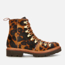 Grenson Women's Nanette Leopard Print Pony Hiking Style Boots - Brown