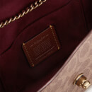 Coach Women's Coated Canvas Signature Cam Chain Crossbody Clutch - Tan Deep Red