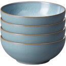 Denby Azure Haze 4 Piece Coupe Cereal Bowl Set
