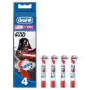Oral-B Kids' Opzetborstels Met Star Wars-figuren, Verpakking 4-Pak
