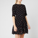 See By Chloé Women's Jacquard Spot Dress - Black/Multi