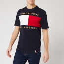 Tommy Hilfiger Men's Flag Embroidered Relax Fit T-Shirt - Desert Sky