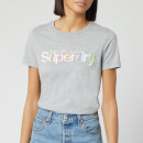 Superdry Women's Classic Rainbow Short Sleeve T-Shirt - Grey Marl