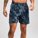 MP Training Men's Stretch Woven Shorts - Washed Blue-Camo - XS