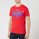 Superdry Men's Vintage Label 1st T-Shirt - Lollipop Red