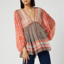 Free People Women's Aliyah Printed Tunic Top - Pink
