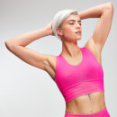 MP Power Women's Longline Sports Bra - Super Pink