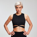 MP Power Damen Crop Top - Schwarz - XS