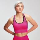 Naisten MP Contrast Seamless Sports Bra - Super Pink - XS
