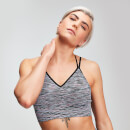 Space Dye Seamless Women's Sports Bra - Black