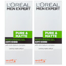 L'Oréal Men Expert Pure and Matte Anti-Shine Gel Moisturiser for Oily Skin 50ml 2 Pack Exclusive