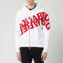 Dsquared2 Men's Angled Mirror Logo Hoody - White/Red