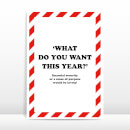 What Do You Want This Year? Greetings Card