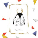 Happy Christmas Penguin Greetings Card