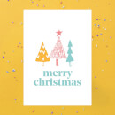 Merry Christmas Trees Greetings Card