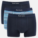PS Paul Smith Men's 3 Pack Trunk Boxer Shorts - Navy