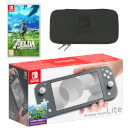 Nintendo Switch Lite (Grey) The Legend of Zelda: Breath of the Wild Pack