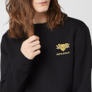 Harry Potter Hufflepuff Unisex Embroidered Sweatshirt - Black