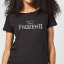 Frozen 2 Title Silver Women's T-Shirt - Black