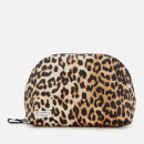 Ganni Women's Tech Fabric Cosmetic Bag - Leopard