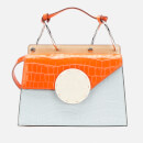 Danse Lente Women's Phoebe Shoulder Bag - Pale Blue/Papaya Croc