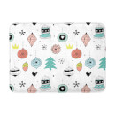 Colourful Christmas Decorations Bath Mat