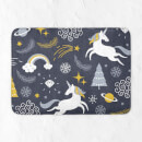Christmas Unicorn Adventure Bath Mat