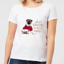 Christmas Pug Women's T-Shirt - White