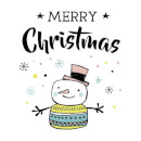 Merry Christmas Snowman Sweatshirt - White