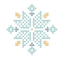 Cross Stitch Snow Flake Women's Sweatshirt - White