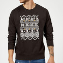 Nintendo Super Mario Retro Boo Christmas Sweatshirt - Black
