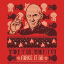 Star Trek: The Next Generation Make It So Christmas Sweatshirt - Red