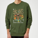 Scooby Doo Christmas Sweatshirt - Forest Green