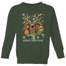 Scooby Doo Kids' Christmas Sweatshirt - Forest Green