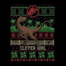 Jurassic Park Clever Girl Women's Christmas Sweatshirt - Black