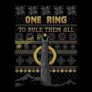 Lord Of The Rings One Ring Men's Christmas T-Shirt - Black