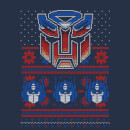 Autobots Classic Ugly Knit Men's Christmas T-Shirt - Navy