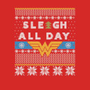 Wonder Woman 'Sleigh All Day Men's Christmas T-Shirt - Red